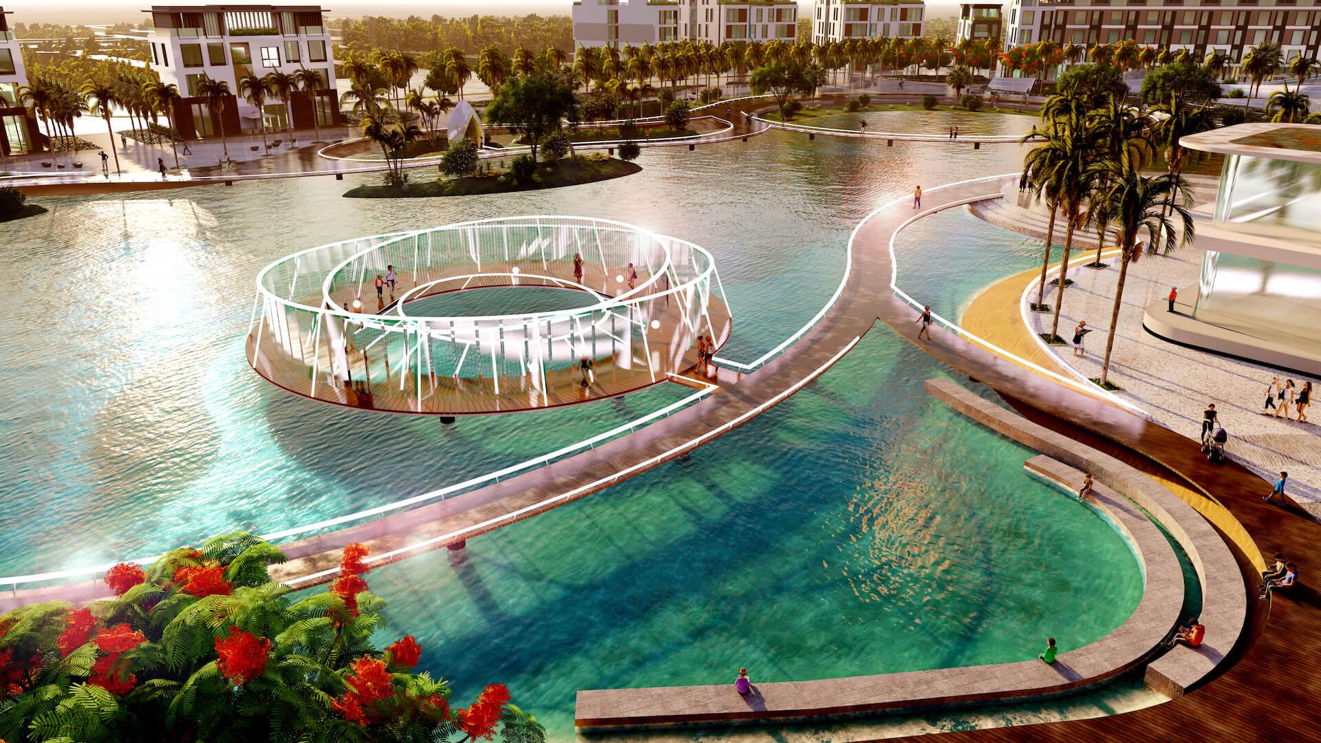 Công viên hồ - Chòi đung đưa - Vui chơi
