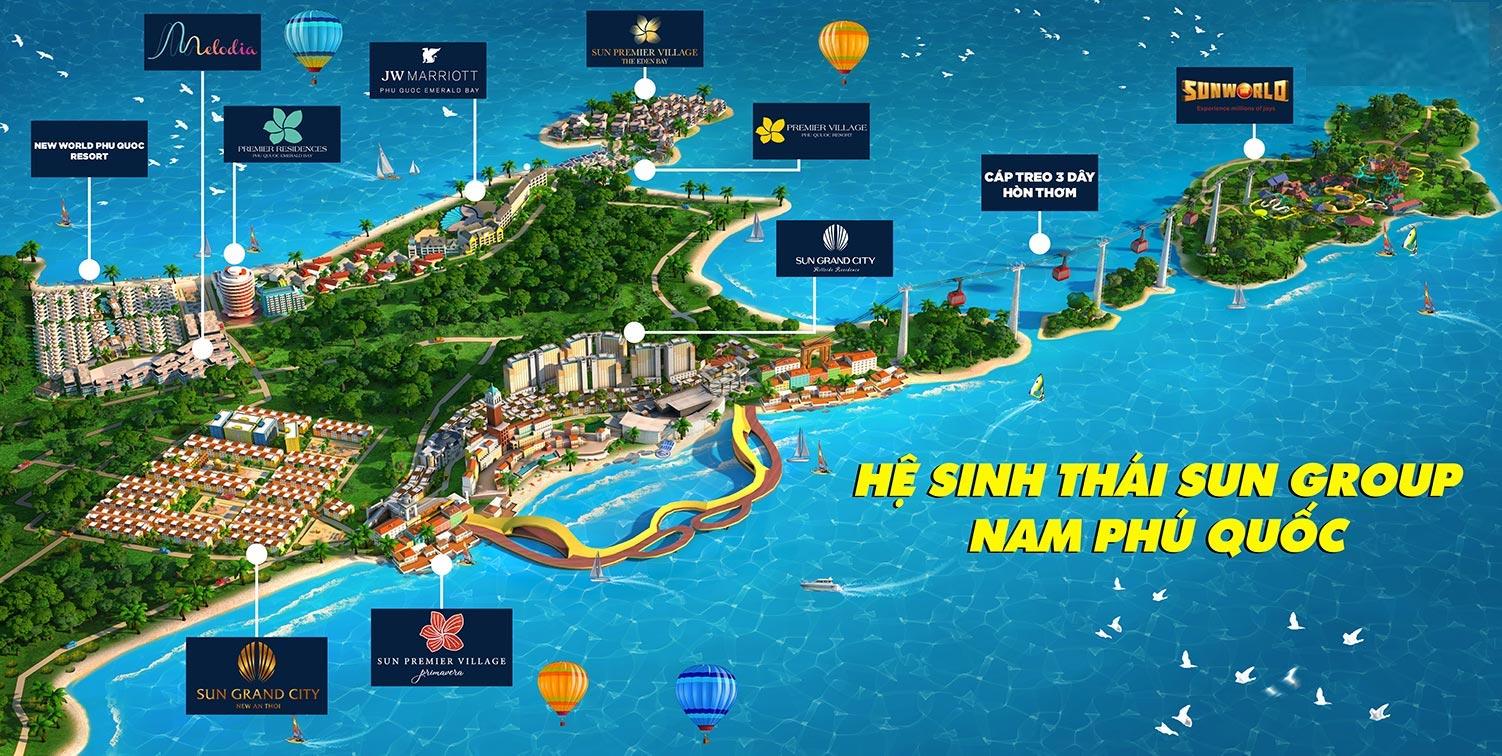 Thừa hưởng hệ sinh thái Sun Group tại Nam Phú Quốc