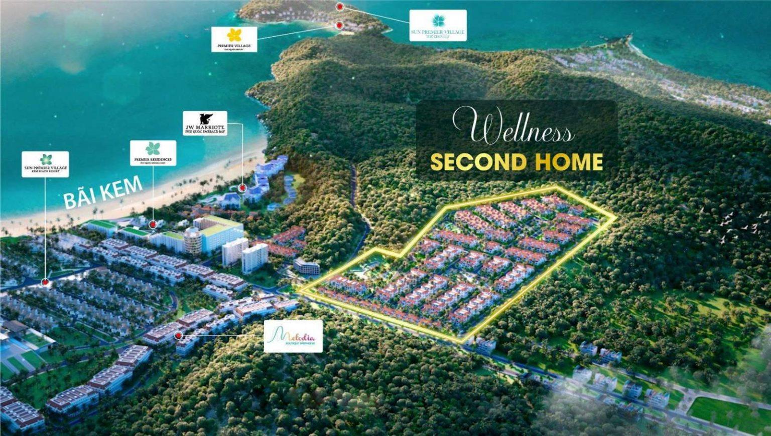 Làng nhiệt đới Sun Tropical Village - Wellness Second Home tại Nam Phú Quốc