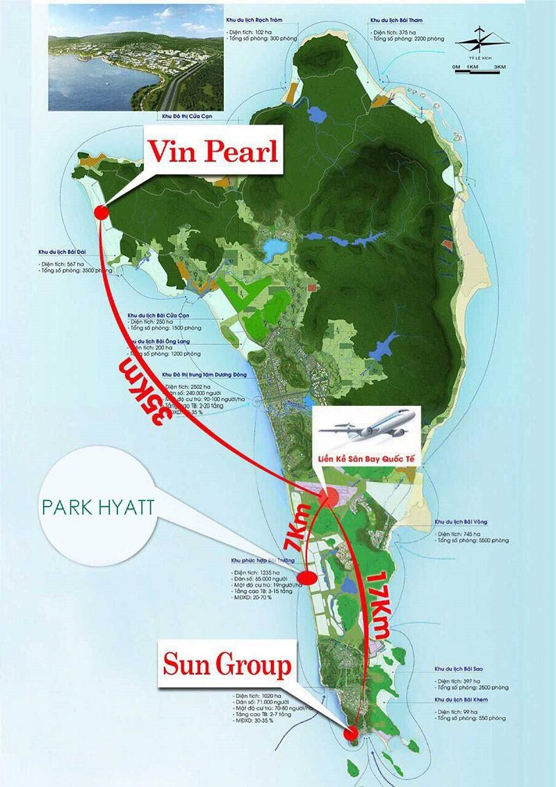 vị trí của Park Hyatt Phú Quốc