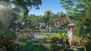 Bức hoạ phẩm Sun Tropical Village